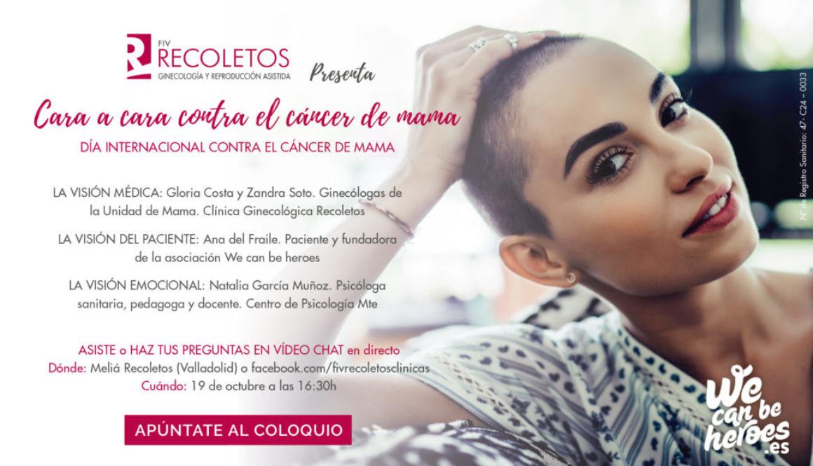 Cara a Cara con el Cáncer de Mama. Coloquio con pacientes y familiares en la clínica FIV Recoletos Valladolid