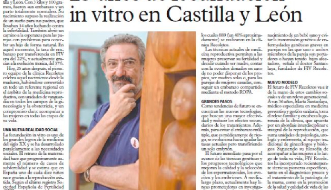 """El primer """"niño probeta"""" de Castilla y León cumple 25 años"""