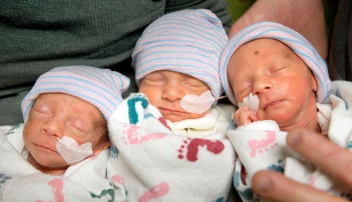 En California una mujer ha dado a luz trillizas sin haberse sometido a tratamientos de fertilidad