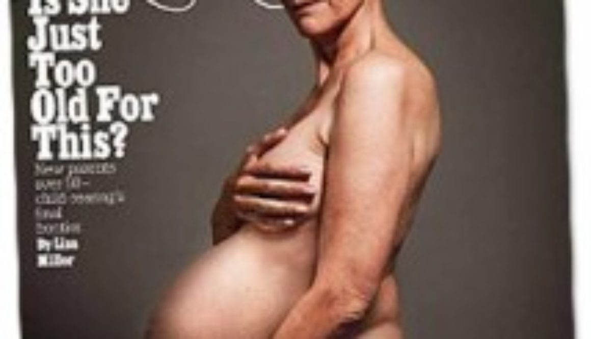 Polémica portada de New York Magazine sobre el embarazo tardío