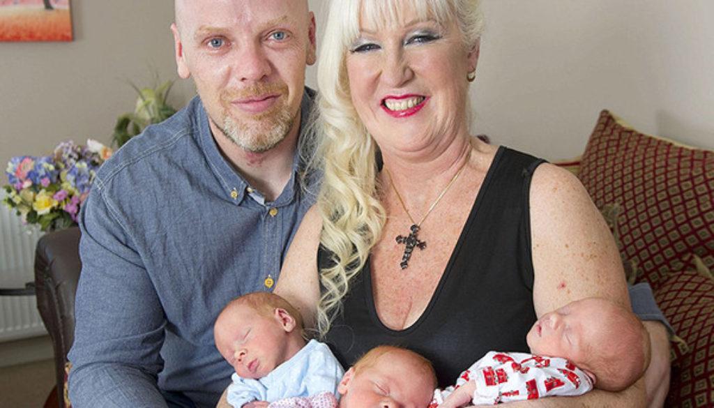 Una abuela de 55 años ha dado a luz a trillizos en Reino Unido