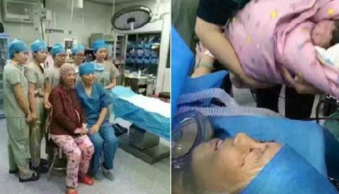 Una mujer china de 64 años da a luz con apoyo de la ciencia